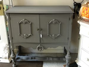 Vintage antique silver chest/cabinet with drawers for Sale in Frederick, MD