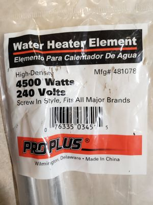 ProPlus 4500 Watt Screw-In Water Heater Element for Sale in Tacoma, WA