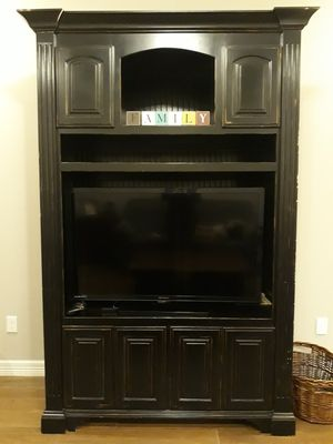 Custom-Built, Solid Wood Entertainment Center for Sale in Sour Lake, TX