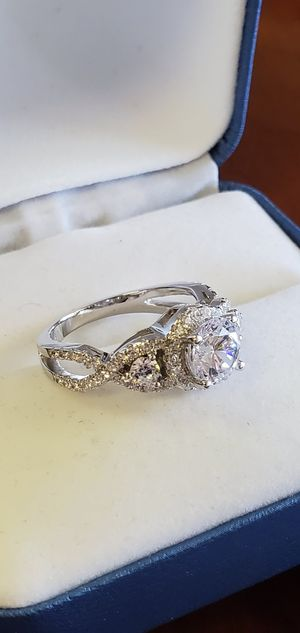 925 Sterling Silver, AAA Cubic Zirconia Stones, Wedding/Engagement Ring Size 4, 5, 6, 6.5, 7, 8 & 9 for Sale in Portland, OR