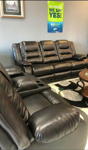 💲39 Down Payment 🍃Best Deal  SPECIAL] Vacherie Black Reclining Living Room Set for Sale in Laurel, MD