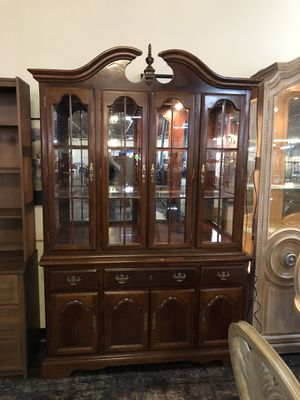 Cherry china cabinet for Sale in Jacksonville, FL