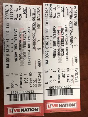 Backstreet Boys DNA Tour DC for Sale in Gainesville, VA
