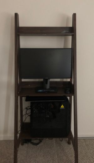 Cyber Power LED Gaming PC with desk for Sale in Chattanooga, TN