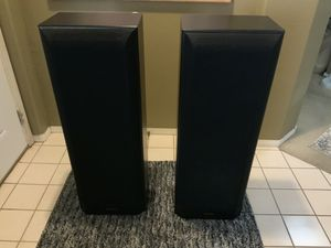 """EXCELLENT CONDITION PIONEER TALL SPEAKERS # CS-R790K SET, ( HEIGHT 41 1/2"""" x WITH 15' x DEPTH 11"""") FABIC COVER HAS SOME MINOR SNAG'S/ WORKS GREAT for Sale in Henderson, NV"""