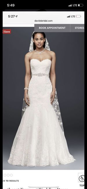 Davis bridal wedding dress size 14 for Sale in Costa Mesa, CA