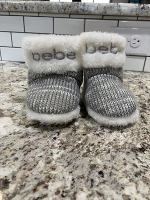 Size 5 toddler Bebe slipper boots for Sale in Wenatchee, WA
