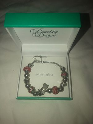 Silver with red charms braclet for Sale in La Puente, CA