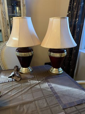"""Lamp set, brown & gold 26"""" tall for Sale in Tracy, CA"""
