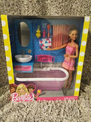 Barbie doll bathtime fun playset shipping only no pickup for Sale in Apalachicola, FL