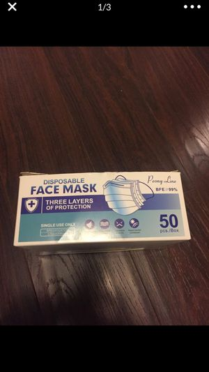 Face masks 50 pieces bulk box. for Sale in Torrance, CA