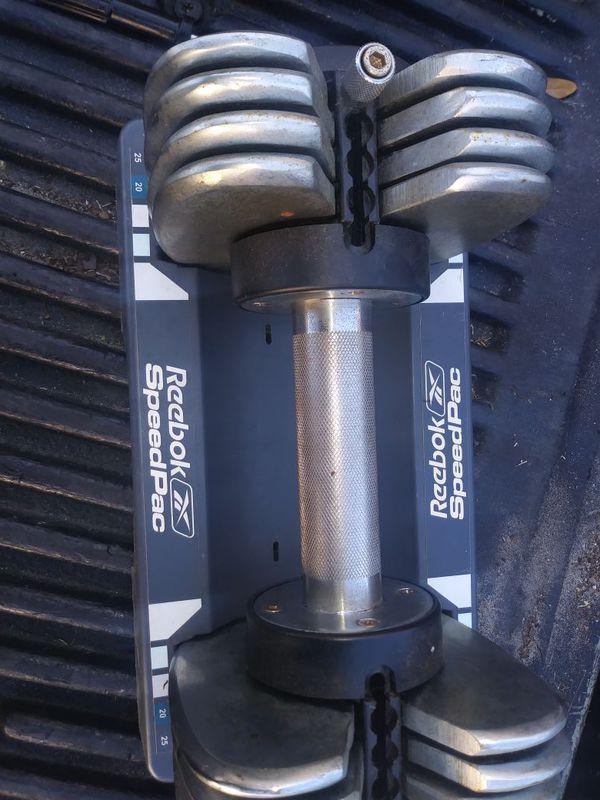 Reebok interchangable dumbells