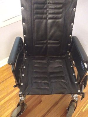 Got a new smaller wheel chair works great just dont need it anymore take first $100 cash rolls away with ot for Sale in Wichita, KS