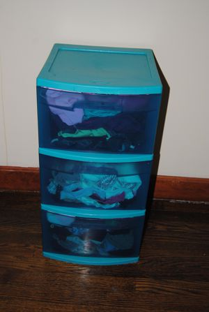 Blue 3-Drawer Plastic Storage for Sale in Newton, MA