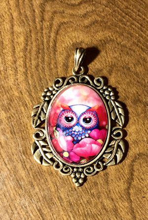Owl Glass Cabochon Fancy Pendant for Sale in Parkville, MD