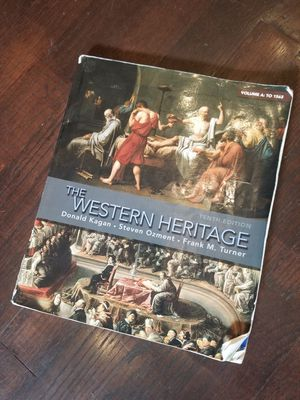 The Western Heritage: Volume A : to 1563 (10th Edition) - Paperback. Condition is Good. ISBN 978-0-205-69978-0. for Sale in Lexington, SC