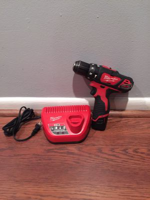 MILWAUKEE 12V VOLT HAMMER DRILL DRIVER, BATTERY & CHARGER, WORKS GREAT.. for Sale in Lake Worth, FL