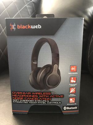 Black Web Over-Ear Wireless Headphones With Active Noise Cancelation for Sale in Frostproof, FL