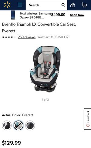 Evenflo Triumph Convertible Car Seat for Sale in Cleveland, OH