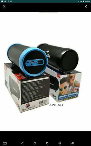Special Deal !!! 2X Bluetooth Rechargeable Cylinder Wireless Speakers Brand NEW for Sale in San Bernardino, CA