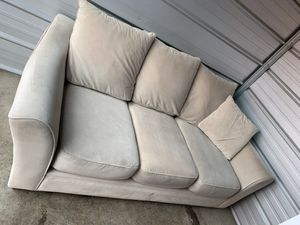 Beige cream microfiber deep couch for Sale in Portland, OR