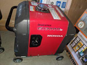 Honda eu3000is inverter generator super quiet price is firm for Sale in Fontana, CA