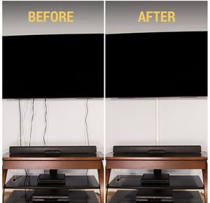 Cable Concealer On-Wall Cord Cover Raceway Kit - Cable Management System to Hide Cables, Cords, or Wires - Cord Organizer for TVs and Computers at Ho for Sale for sale  Plainfield, NJ