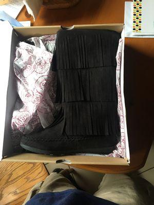 Ladies Black Fringe Boots for Sale in Pickerington, OH