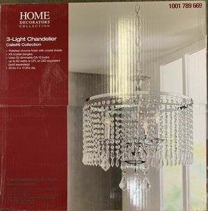 NEW IN BOX HOME DECORATORS COLLECTION 3-Light Mini Chandelier Calisitti Collection, $164 for Sale in Los Angeles, CA