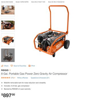 PORTABLE AIR COMPRESSOR BRAND NEW 2in one for Sale in Fontana, CA