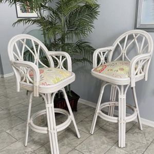 2 swivel rattan bar high chairs.delivery available for Sale in Brooksville, FL