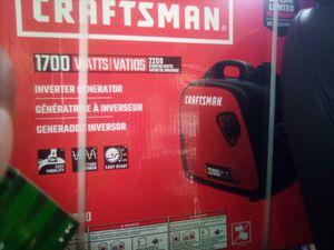 Craftsman 1700watt generator 2200 start power for Sale in Austin, TX