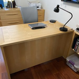 Wooden Desk And File Cabinets And Book Shelves for Sale in Los Angeles, CA