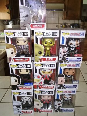 star wars/ civil war Funko pops for Sale in Modesto, CA