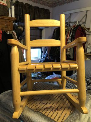 Kids Wooden Rocking Chair $30 for Sale in Queens, NY