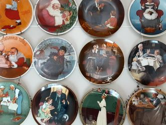 Norman Rockwell Christmas Limited Edition Plates Set of 11 for Sale in Fairfax,  VA