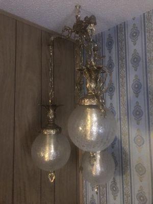 Vintage 3 tier globe swag lamp for Sale in Wichita, KS
