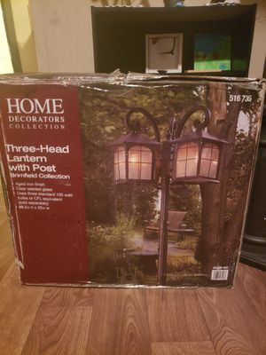 Home Decorations 3 Head Lantern for Sale in Indianapolis, IN