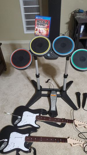 Rock Band 4. Drums,2 guitars and 2 mics. for Sale in Oklahoma City, OK