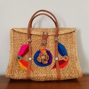 Large vintage hippie boho purse, straw tote bag for Sale in Washington, DC