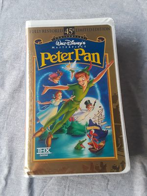 Walt DIsney's 45th Anniversary Peter Pan on VHS. This is a fully restored limited edition VHS. The tape is fully-functioning for Sale in Saginaw, TX