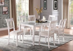 🌲Homelegance Nadalia White Faux Marble Top Dining Set for Sale in Berwyn Heights, MD