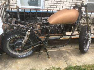 1981 Kawasaki cruiser project motorcycle rolling chassis for Sale in Oak Lawn, IL