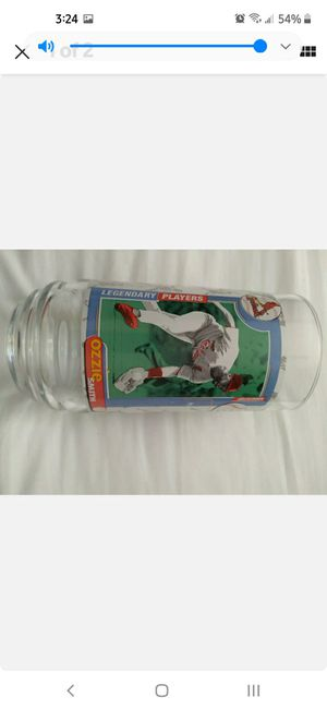 ozzie smith collectible glass cup for Sale in Las Vegas, NV