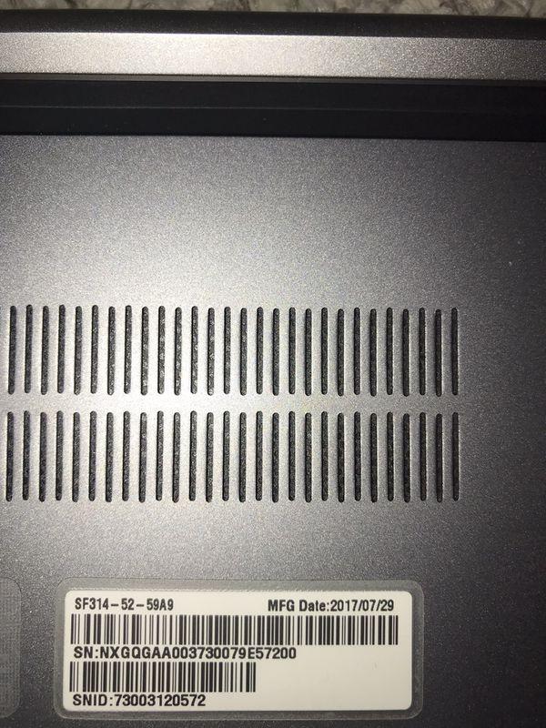 "Acer Swift SF314-52-59A9 14"" 1080P Ultrabook i5-8250U 8GB DDR4 256GB NVME SSD"