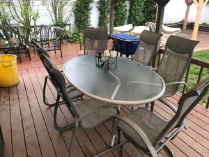 7 piece patio set. Used. $75 for Sale in South Farmingdale, NY