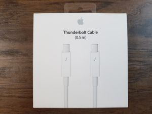 NEW! GENUINE APPLE THUNDERBOLT 2 CABLE 0.5m 1 YR WARRANTY MD862LL/A A1410 MACBOOK PRO AIR for Sale in Chandler, AZ