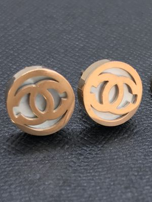 Beautiful gold plated shimmer bass studs earrings for Sale in San Jose, CA