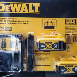Dewalt 20v Max Battery Starter Kit for Sale in Gresham, OR