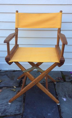 Directors' Chairs (2) Vintage with BONUS new never used yellow Canvas Covers for Sale in Goshen, NY